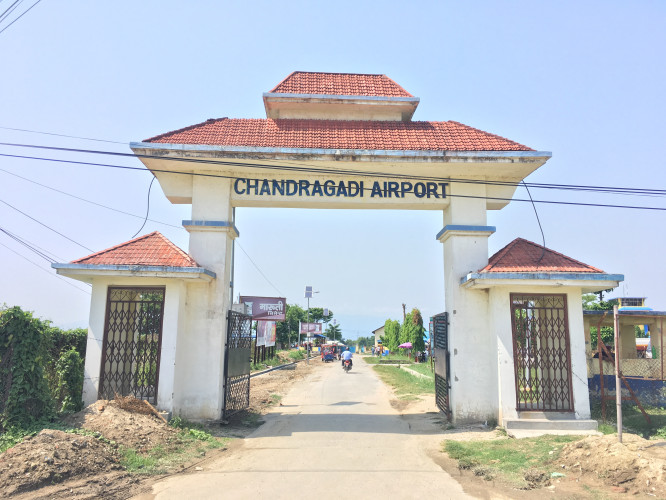 Chandragadi Airport also called Bhadrapur Domestic Airport in Bhadrapur, Nepal