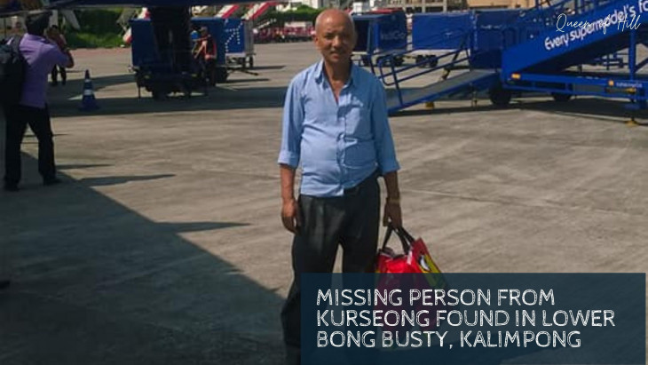 Missing person from Kurseong Found in Lower Bong Busty, Kalimpong
