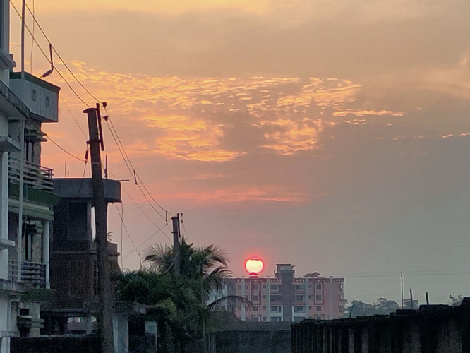 Sunset from Pintail Village, Siliguri